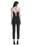 ALEXANDER WANG HIGH WAISTED TAILORED PANTS WITH ZIP POCKETS PANTS Adult 8_n_r