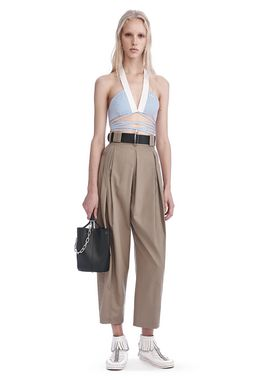 HIGH WAISTED PLEAT FRONT PANTS