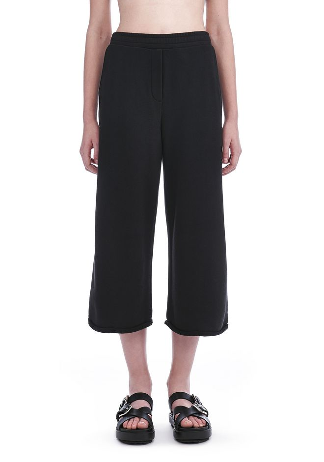 ... T by ALEXANDER WANG FRENCH TERRY CROPPED WIDE LEG SWEATPANTS PANTS  Adult 12_n_d ...