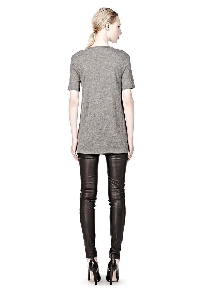T by ALEXANDER WANG CLASSIC TEE WITH POCKET Short sleeve t-shirt Adult 12_n_r