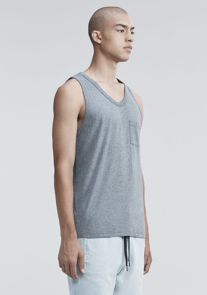 T by ALEXANDER WANG CLASSIC TANK WITH POCKET タンクトップ Adult 12_n_a