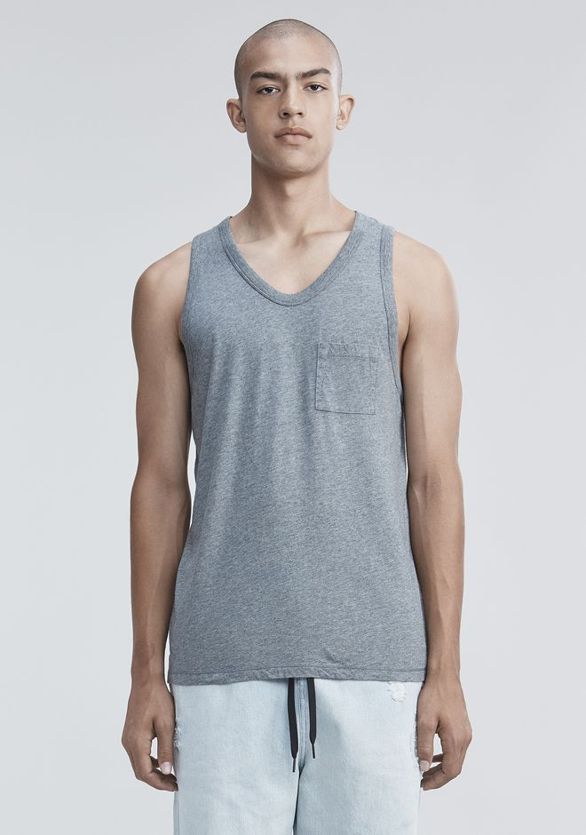 T by ALEXANDER WANG CLASSIC TANK WITH POCKET タンクトップ Adult 12_n_e