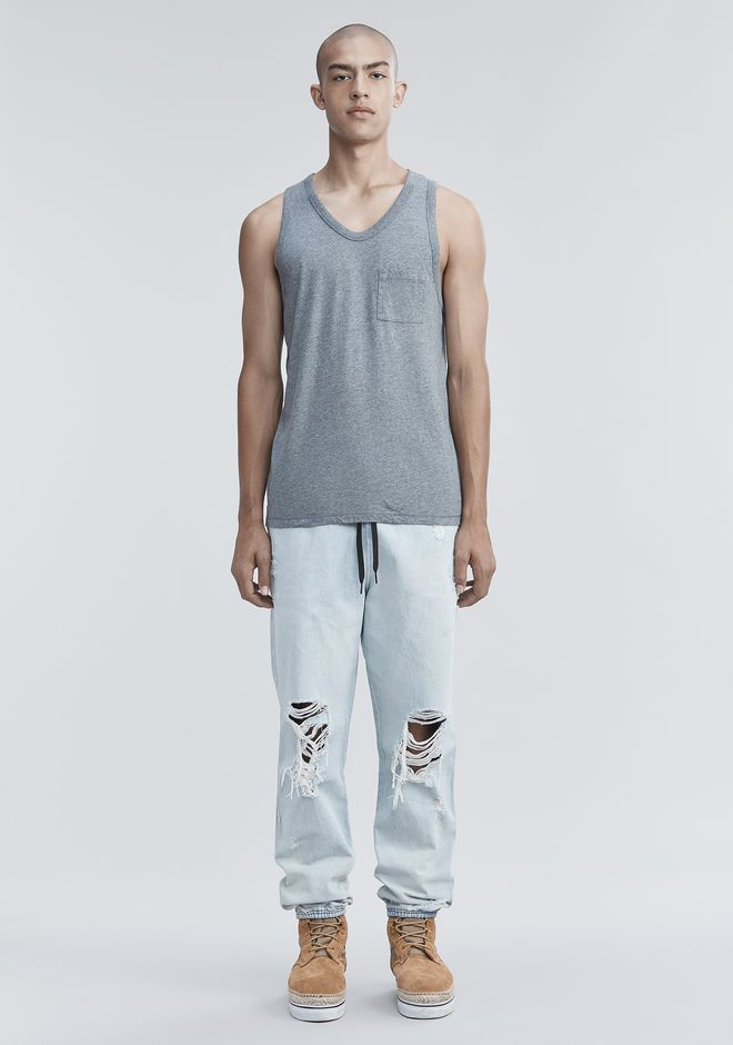 T by ALEXANDER WANG TANK WITH POCKET TANK Adult 12_n_f