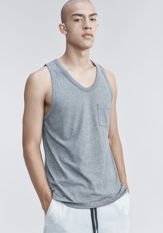T by ALEXANDER WANG TANK WITH POCKET TANKTOP Adult 12_n_r