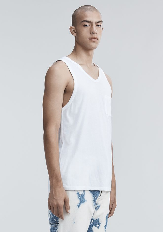 T by ALEXANDER WANG TANK WITH POCKET TANKTOP Adult 12_n_a