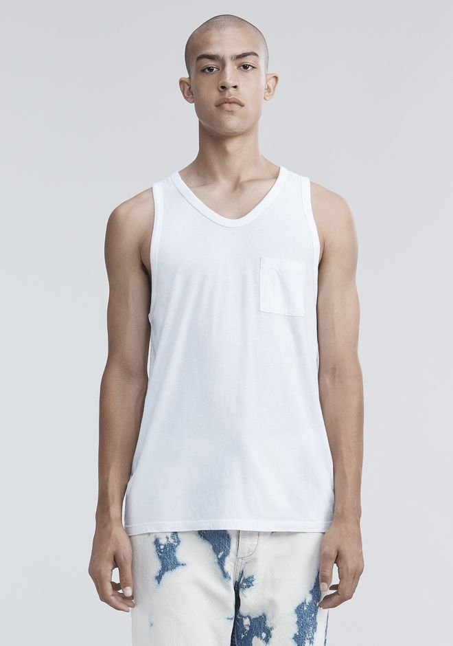 T by ALEXANDER WANG TANK WITH POCKET TANKTOP Adult 12_n_e