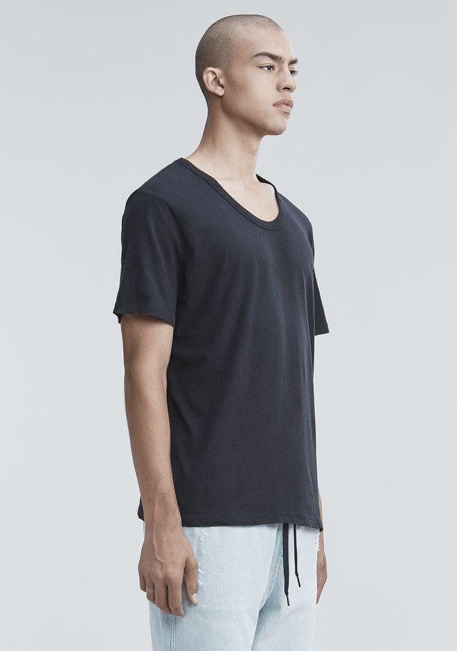 T by ALEXANDER WANG CLASSIC LOW NECK TEE T恤 Adult 12_n_a
