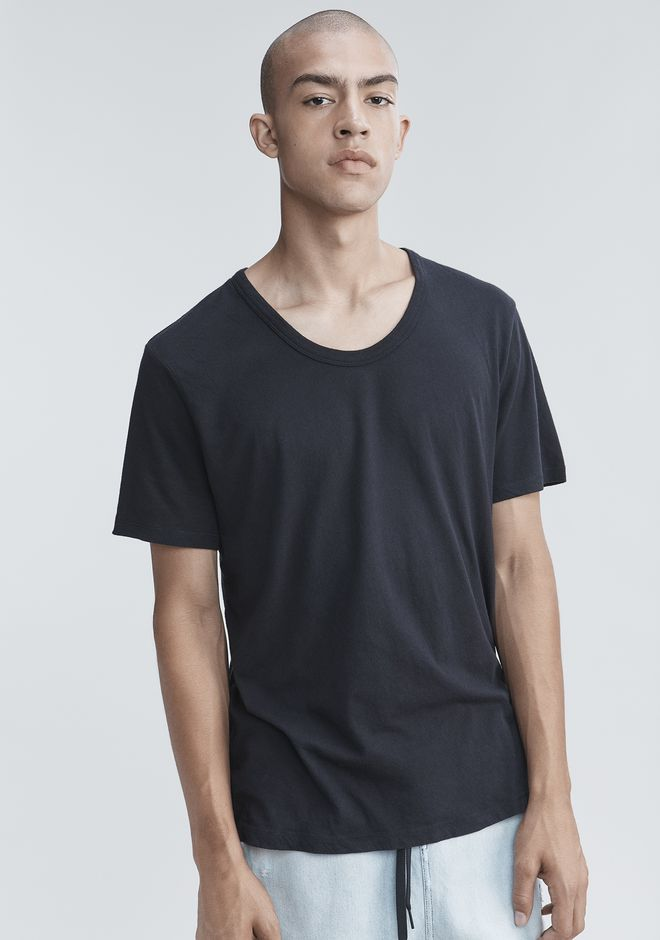 T by ALEXANDER WANG LOW NECK TEE TEE Adult 12_n_r