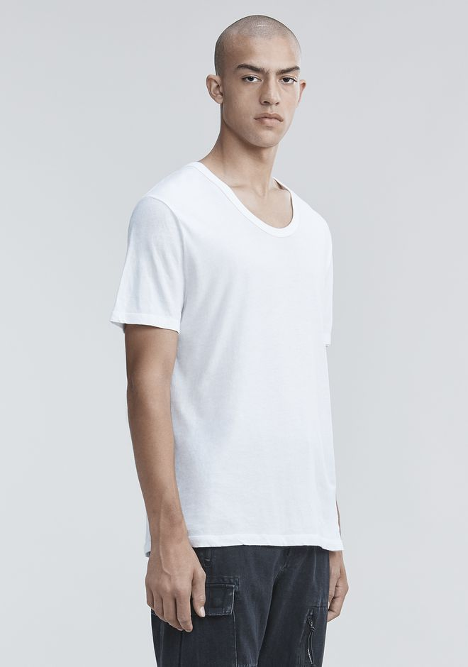 T by ALEXANDER WANG LOW NECK TEE T-SHIRT Adult 12_n_a