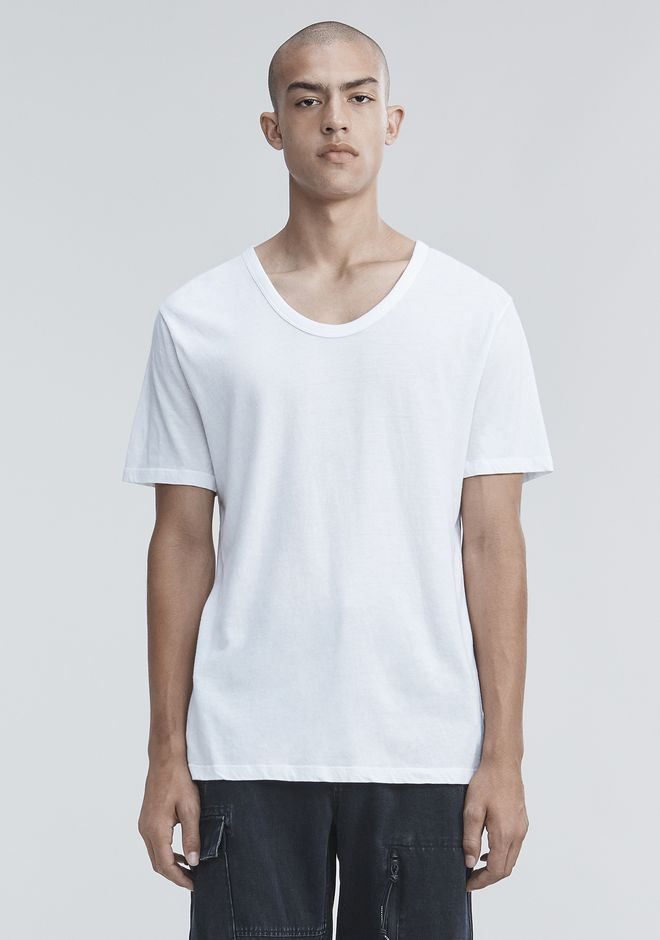 T by ALEXANDER WANG LOW NECK TEE T-SHIRT Adult 12_n_e