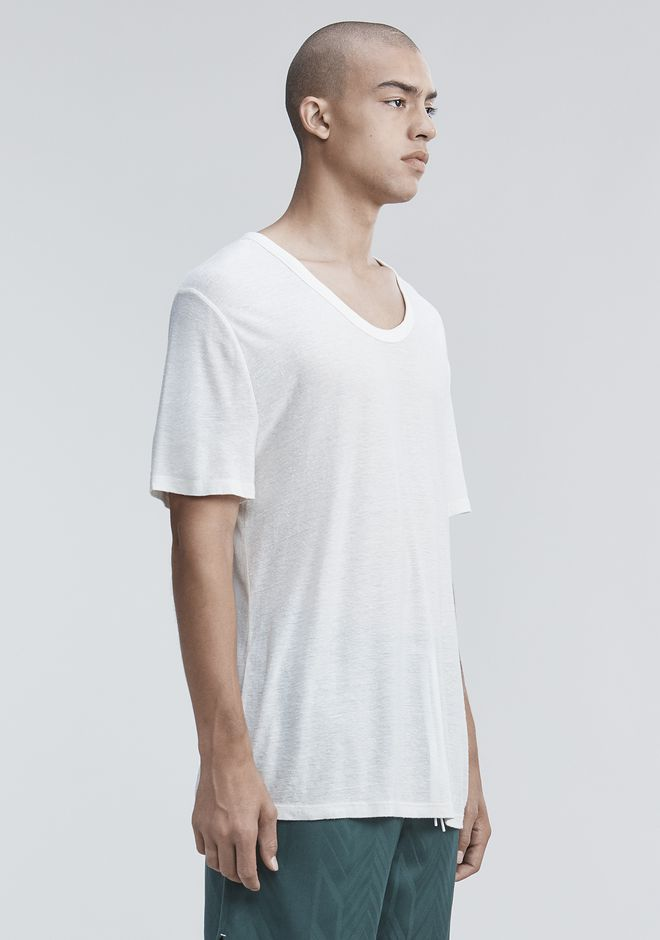 T by ALEXANDER WANG SLUB RAYON SILK LOW NECKTEE 티 Adult 12_n_a