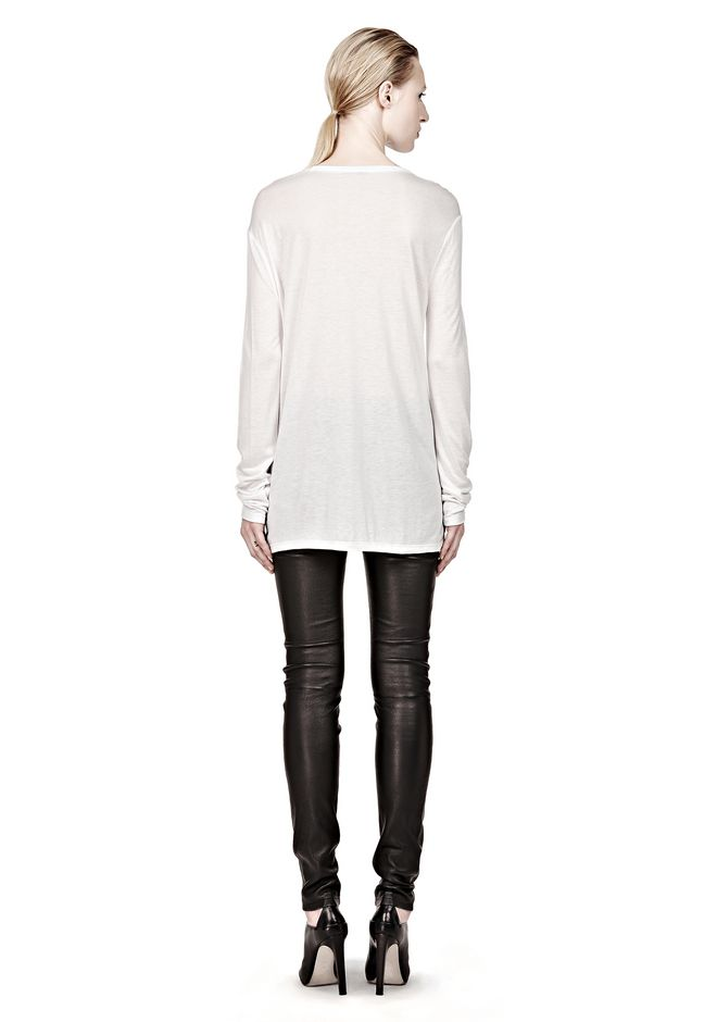 T by ALEXANDER WANG CLASSIC LONG SLEEVE TEE WITH POCKET Long sleeve t-shirt Adult 12_n_r