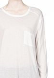 T by ALEXANDER WANG CLASSIC LONG SLEEVE TEE WITH POCKET Long sleeve t-shirt Adult 8_n_a