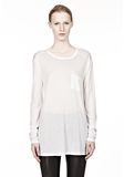 T by ALEXANDER WANG CLASSIC LONG SLEEVE TEE WITH POCKET Long sleeve t-shirt Adult 8_n_e