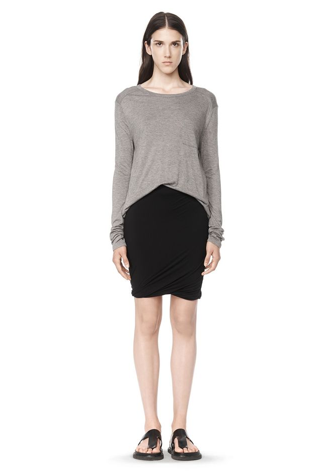 T by ALEXANDER WANG CLASSIC LONG SLEEVE TEE WITH POCKET Long sleeve t-shirt  Adult ...