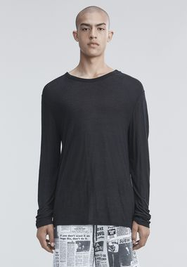 SLUB RAYON SILK LONG SLEEVE TEE