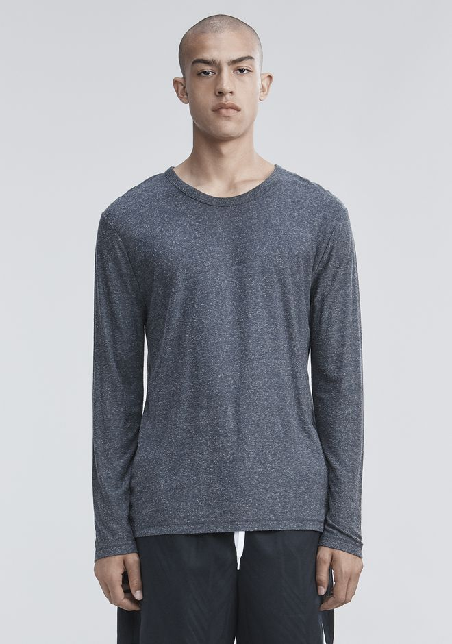 T by ALEXANDER WANG mens-new-apparel SLUB RAYON SILK LONG SLEEVE TEE