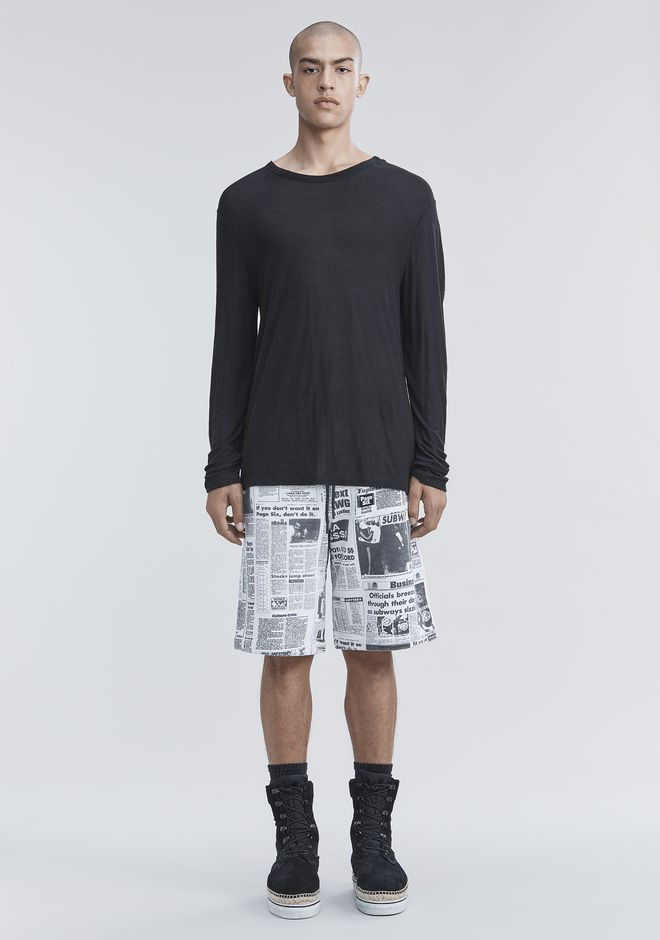 Slub Rayon Silk Long Sleeve Tee by Alexander Wang