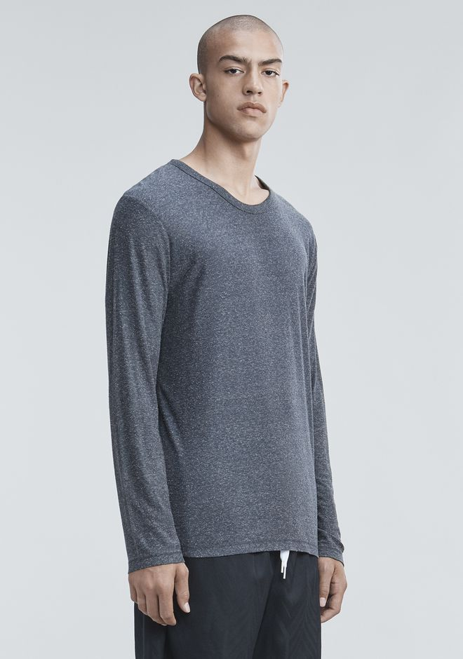 T by ALEXANDER WANG SLUB RAYON SILK LONG SLEEVE TEE Langärmliges T-Shirt Adult 12_n_a