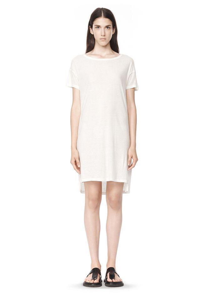 T by ALEXANDER WANG SLUB CLASSIC BOATNECK DRESS  Short Dress Adult 12_n_f