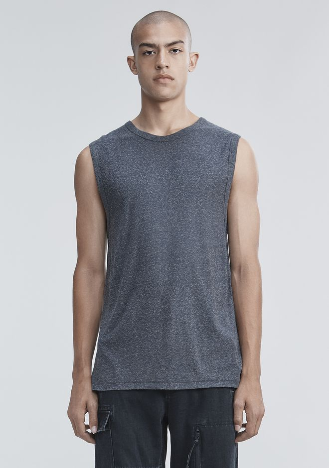T by ALEXANDER WANG VESTS SLUB RAYON SILK MUSCLE TEE