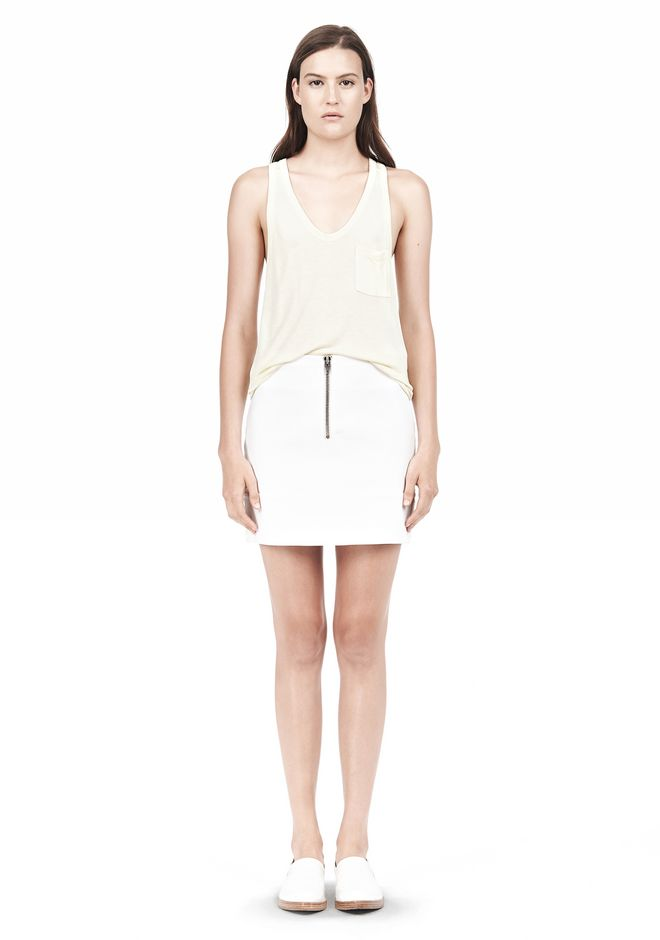 T by ALEXANDER WANG TANK WITH POCKET TOP Adult 12_n_f