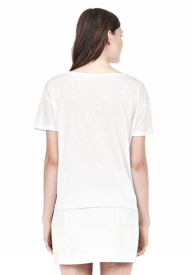 T by ALEXANDER WANG SINGLE JERSEY SHORT SLEEVE TEE Short sleeve t-shirt Adult 12_n_d