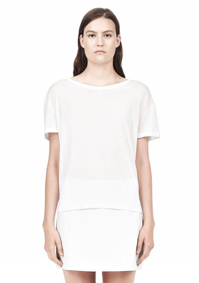 T by ALEXANDER WANG SINGLE JERSEY SHORT SLEEVE TEE Short sleeve t-shirt Adult 12_n_e
