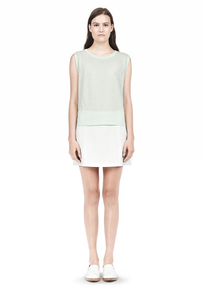 T by ALEXANDER WANG SINGLE JERSEY MUSCLE TEE TOP Adult 12_n_f