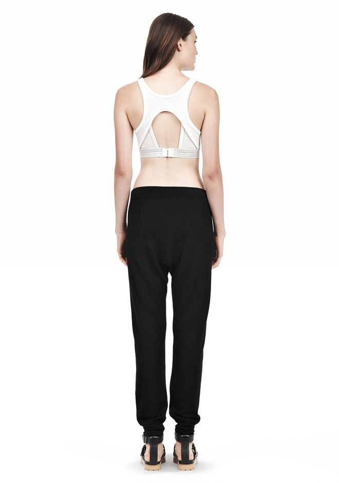 T by ALEXANDER WANG JERSEY SPORTS BRA WITH CUTOUT BACK DETAIL TOP Adult 12_n_r
