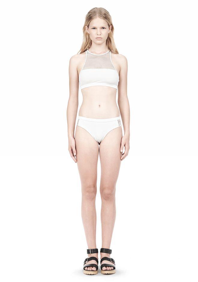 T by ALEXANDER WANG MESH COMBO CREWNECK RACERBACK SWIM TOP Swimwear Adult 12_n_f