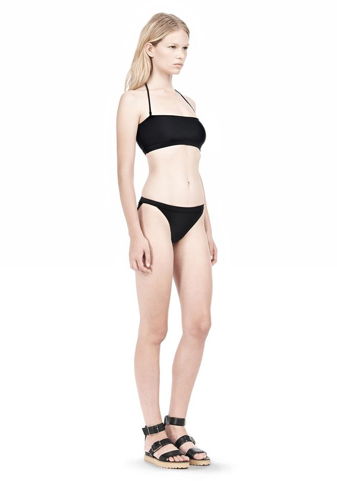 T by ALEXANDER WANG SWIM MATTE JERSEY BANDEAU WITH TRIANGLE T STRAPS Swimwear Adult 12_n_e