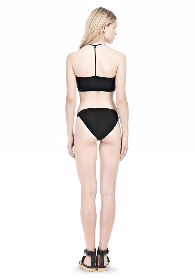 T by ALEXANDER WANG SWIM MATTE JERSEY BANDEAU WITH TRIANGLE T STRAPS Swimwear Adult 12_n_r