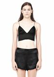 T by ALEXANDER WANG SILK SATIN TRIANGLE BRALETTE TOP Adult 8_n_e