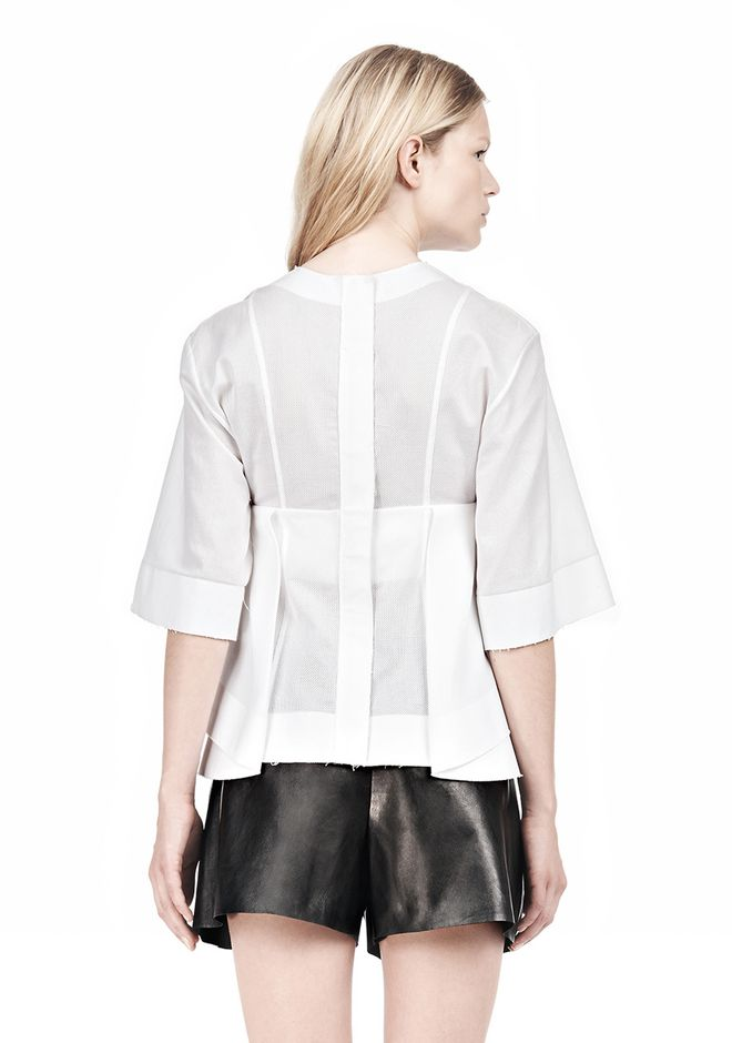 ALEXANDER WANG SUSPENDED T-SHIRT WITH BRA DETAIL Blouse Adult 12_n_d