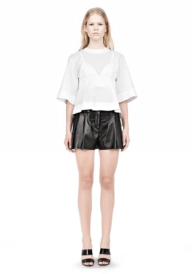 ALEXANDER WANG SUSPENDED T-SHIRT WITH BRA DETAIL Blouse Adult 12_n_f
