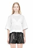 ALEXANDER WANG SUSPENDED T-SHIRT WITH BRA DETAIL Blouse Adult 8_n_e