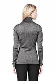 ALEXANDER WANG RIBBED LUREX TURTLENECK WITH PINCHED DARTS TOP Adult 8_n_d