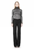 ALEXANDER WANG RIBBED LUREX TURTLENECK WITH PINCHED DARTS TOP Adult 8_n_f