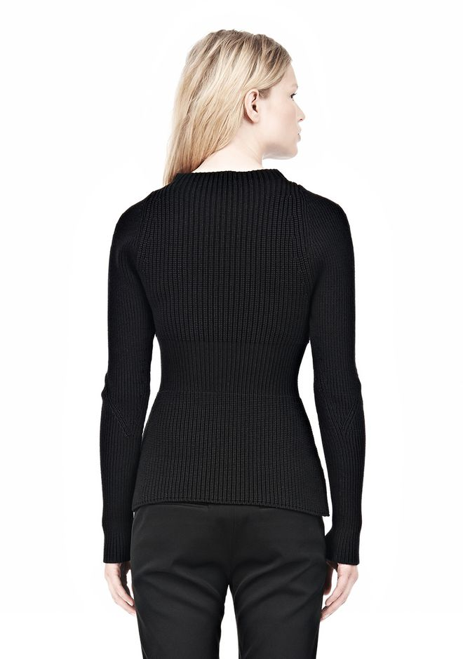 ALEXANDER WANG PINCHED WAIST KNIT PULLOVER TOP Adult 12_n_d