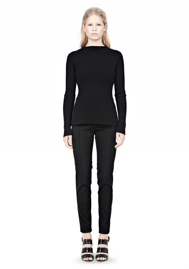 ALEXANDER WANG PINCHED WAIST KNIT PULLOVER TOP Adult 12_n_f