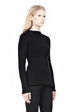 ALEXANDER WANG PINCHED WAIST KNIT PULLOVER TOP Adult 8_n_a