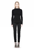 ALEXANDER WANG PINCHED WAIST KNIT PULLOVER TOP Adult 8_n_f