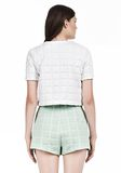 T by ALEXANDER WANG GRID JACQUARD BONDED NEOPRENE SHORT SLEEVE TOP Short sleeve t-shirt Adult 8_n_d