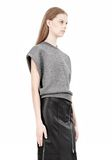 ALEXANDER WANG CROPPED LUREX MUSCLE PULLOVER Sleeveless jumper Adult 8_n_a