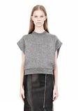 ALEXANDER WANG CROPPED LUREX MUSCLE PULLOVER Sleeveless jumper Adult 8_n_e