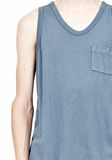 T by ALEXANDER WANG CLASSIC TANK WITH POCKET TEE Adult 8_n_a