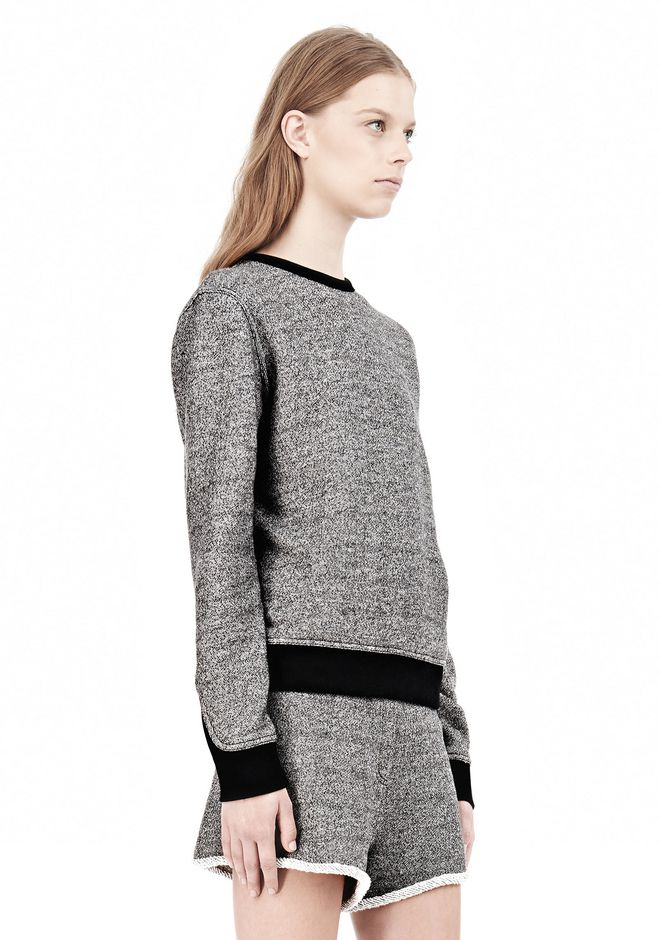 T by ALEXANDER WANG  FRENCH TERRY CREWNECK SWEATSHIRT SWEATER Adult 12_n_a