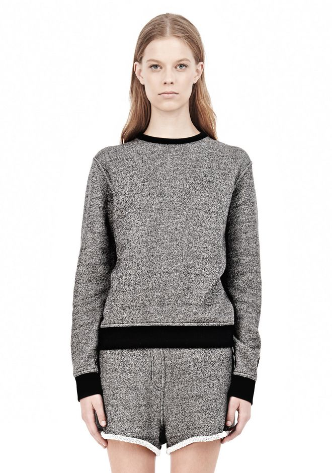 T by ALEXANDER WANG  FRENCH TERRY CREWNECK SWEATSHIRT SWEATER Adult 12_n_e