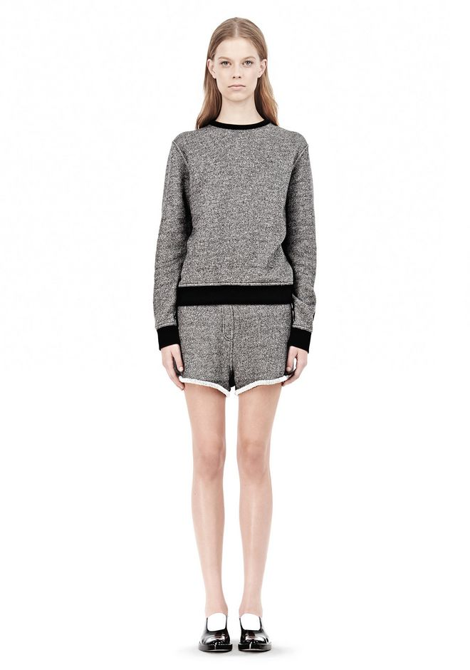 T by ALEXANDER WANG  FRENCH TERRY CREWNECK SWEATSHIRT SWEATER Adult 12_n_f